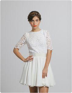 15 meilleures images du tableau Robes courtes de mariée   Short ... 69cc19e44c1e