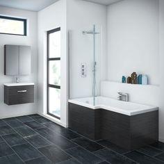 Brooklyn Black Shower Bath