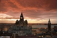 Liverpool and Wirral Sunset