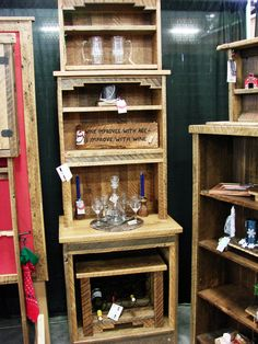 Belmont wine case and hutch home bars at hayneedle for Reclaimed wood furniture bend oregon