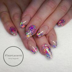 Another amazing set by Jenny Nagorski using the new Lecenté unicorn chunky glitter #lovelecenté