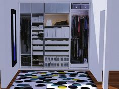 For lovers of decor and fashion have a dressing room at home is a dream, now your sims can have a great dressing room in his house. Found in TSR Category 'Paintings & Posters'