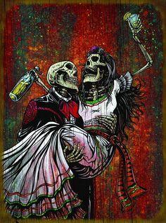Day of the Dead Artist David Lozeau, Wood Prints, David Lozeau Dia de los Muertos Art - 1