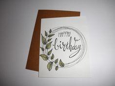Creative Birthday Cards, Handmade Birthday Cards, Happy Birthday Cards, Calligraphy Cards, Calligraphy Birthday Card, Birthday Card Drawing, Karten Diy, Birthday Letters, Bday Cards