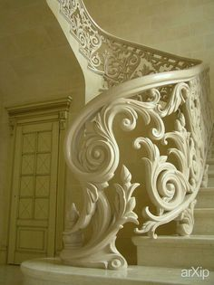 ornate staircase in paris interesting in white Grand Staircase, Staircase Design, White Staircase, Staircase Ideas, Beautiful Stairs, Beautiful Homes, Simply Beautiful, Beautiful Architecture, Architecture Details
