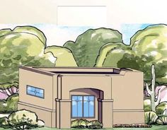 71741 has 325 square feet of living space, 1 bedroom and 1 bathroom. The (best used as a guest house) includes a fireplace and bar sink, access to the bathroom and a walk-in closet. Best House Plans, Country House Plans, House Floor Plans, Bar Sink, Southwestern Style, Old Houses, Colonial, Luxury Homes, Tiny House