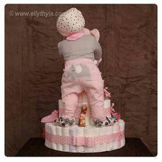 """""""Nydelig bleiekake med det lille ekstra <3 #diapercake #bleiekake #detlilleekstra #dinbabyshower #inspiration"""""""