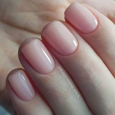 Nageldesign - Nail Art - Nagellack - Nail Polish - Nailart - Nails 50 best natural nail ideas and de Natural Nail Designs, Nagellack Trends, Manicure E Pedicure, Nagel Gel, Nude Nails, Shellac Toes, Pink Shellac, Pale Pink Nails, Shellac Nail Colors