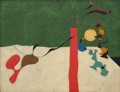 Joan Miró, Nature Morte (Nature morte à la lampe), 1928, Öl auf Leinwand, 89 x 116 cm, Privatsammlung, © Successió Miró / VG Bild-Kunst, Bonn 2010, Foto: Reto Rodolfo Pedrini
