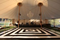 Black & White Dancefloor under Sperry Tent // Sperry Tents Southeast // Skyline Tent Company// Calder Clark// Blossoms Events// Blackberry Farm
