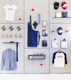 Playful Pegboard Visual Merchandising by Cargo Crew