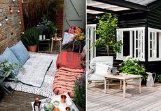 Er du klar til sommerens skønne udeliv? Se, hvordan du gør din terrasse sommerklar med bløde tekstiler, store planter, fletkurve og hyggelig belysning.