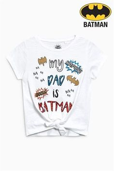 Buy White Batman® Knot Front Short Sleeve T-Shirt (3-16yrs) from the Next UK online shop