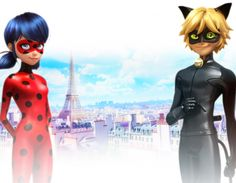 Леди Баг и Супер-Кот новая большая картинка на фоне Парижа