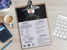 Free Minimal Curriculum Vitae Template with Clean Design Resume Template Free, Resume Templates, Free Resume, Curriculum Vitae Template, Resume Tips, Resume Design, Show And Tell, Clean Design, Minimalism