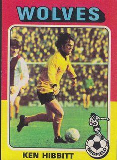 Kenny Hibbitt of Wolves in Wolverhampton Wanderers Fc, Wolves, 1970s, Comic Books, Football, Baseball Cards, Comics, Soccer, Futbol