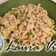 Light Fettuccini Alfredo Recipe - Laura in the Kitchen - Internet Cooking Show Starring Laura Vitale