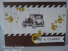 handmade by Julia Quinn - Independent Stampin' Up! Demonstrator: Classic Card for Guys