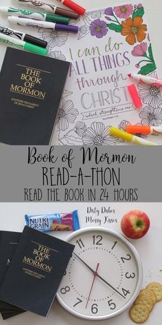 Book of Mormon 24 Hour Read-a-thon Book of Mormon Read-A-Thon – LDS Young Women super activity we read the Book of Mormon in 24 hours. Talk about some serious scripture study, increased faith and accomplishing personal progress goals.