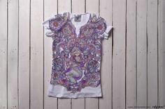 """GANESHA'S GARDEN"" #cityhero #tee #teeshirt #tshirt #style #ornament #oriental #print #paisley #ganesha #forher"