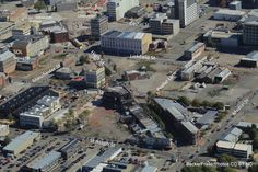 Trying to remember the buildings I used to work in. central city Christchurch, NZ 2½ years on from quake