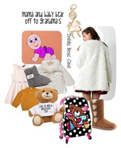 """""""mama and baby bear"""" by autumnflutters ❤ liked on Polyvore featuring George, Chicwish, Heys, UGG Australia and Koolaburra"""