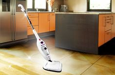 £49.99 for an 8-in-1 stick & handheld BEEM Mega Mopp steam cleaner from Wowcher Shop - clean floors, carpets & more