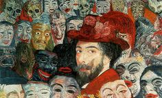 James Ensor,  Self-portrait with Masks