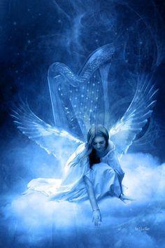 Beautiful blue angel.