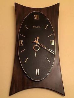 Bulova Mid Century Modern Wall Clock In Collectibles, Clocks, Vintage  (1930 69