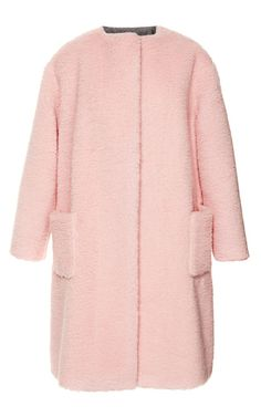 Peluche Powder Pink Coat by Rochas for Preorder on Moda Operandi