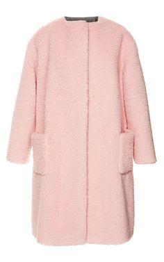 Peluche Powder Pink Coat by Rochas for Preorder on Moda Operandi