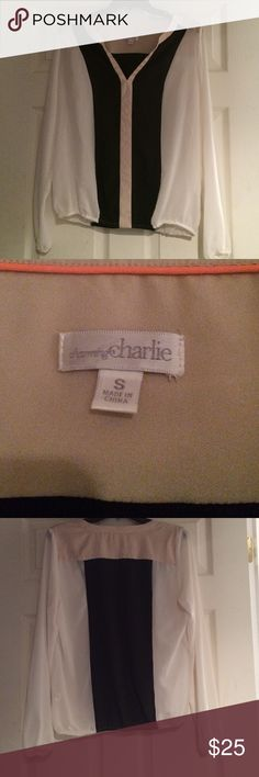 NWOT Charming Charlie top Multicolor top                                                            Only worn once Charming Charlie Tops Blouses