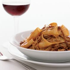 For the luscious meat sauce here, Gerard Craft braises pork with apples and honey, which adds some unexpected sweetness. Another surprise: He finishes...