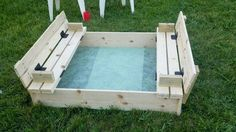 COVERED SANDBOX WITH BUILT IN SEATS | Do It Yourself Home Projects from Ana White