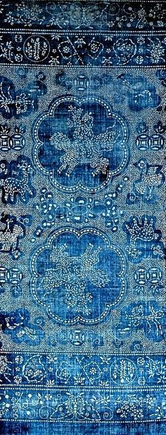 soft, deep blues and delicate patterning. Lovely #print ideashop vintage and unique interiors with http://www.homebarnshop.co.uk/product-category/view-all-vintage-reclaimed-furniture-homeware/
