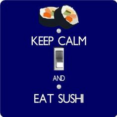 "Rikki KnightTM Keep Calm and eat Sushi Blue Color - Single Toggle Light Switch Cover by Rikki Knight. $13.99. Washable. Glossy Finish. Masonite Hardboard Material. For use on Walls (screws not included). 5""x 5""x 0.18"". The Keep Calm and eat Sushi Blue Color single toggle light switch cover is made of commercial vibrant quality masonite Hardboard that is cut into 5"" Square with 1'8"" thick material. The Beautiful Art Photo Reproduction is printed directly into the switch plate..."