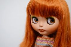 cute! Red Hair Brown Eyes, True Red, Big Eyes, Blythe Dolls, Pin Up, Disney Characters, Fictional Characters, Disney Princess, Trending Outfits
