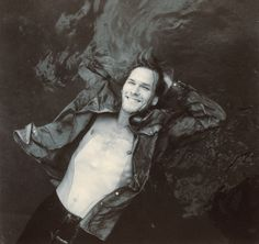 Patrick Swayze in a leather jacket under water. Such a cool pic!!
