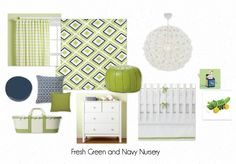 Navy and Lime green inspiration board