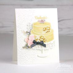 Celebrate card using the Cake Soirée stamp set - Charlet Mallett - Stampin' Up!