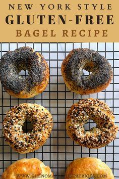 Gluten Free Bagels, Gluten Free Flour, Gluten Free Baking, Vegan Gluten Free, Paleo, Eating Gluten Free, Gf Recipes, Dairy Free Recipes, Cooking Recipes