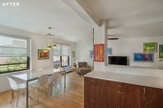 Kyle & Angela's Mid-Cntury Inspired, Clinton Hill Renovation via Sweeten