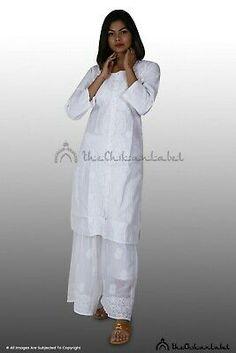 Details about  /Georgette Kurta Kurti Lucknowi Chikankari Ethnic Summer Wear Pakistani Kurta