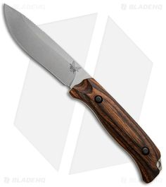 Benchmade Saddle Mountain Skinner Knife Wood Hunting Fixed Blade 15001-2