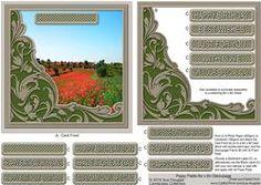 Poppy Fields 6in X 6in Decoupage