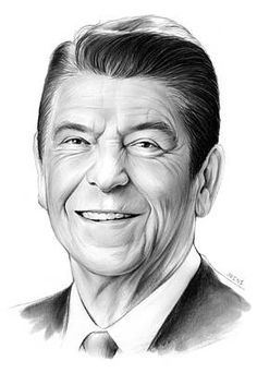 President Drawing - President Ronald Reagan by Greg Joens Celebrity Caricatures, Celebrity Drawings, Celebrity Portraits, Drawing Sketches, Pencil Drawings, Art Drawings, Horse Drawings, Drawing Art, Pencil Art
