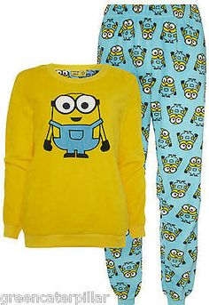 f9e1a1260a37 Minions Primark PYJAMAS Despicable Me Ladies Women SUPERSOFT PJ SET Sizes  6-20. Funny Pajamas ...