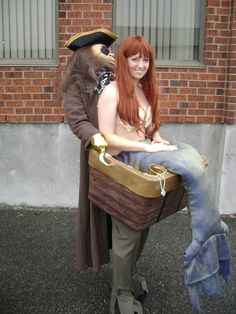 Halloween meerjungfrau Kostüm Ideen pirat