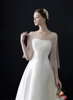 "tullediaries: """" Monica Blanche 2017 Collection IIf you want to look and feel like a princess on your special day, a timeless ball gown with a touch of regal elegance is what you are looking for. Elegant Wedding Dress, Dream Wedding Dresses, Bridal Dresses, Wedding Gowns, Bridesmaid Dresses, 1920s Wedding, Ball Dresses, Ball Gowns, Weeding Dress"